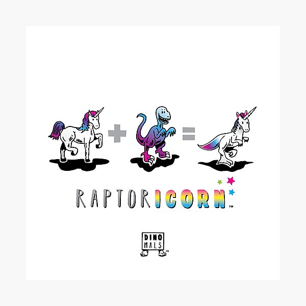 RAPTORICORN™: Math Photographic Print