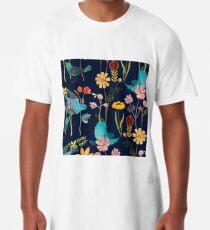 flores y pajaros  Long T-Shirt