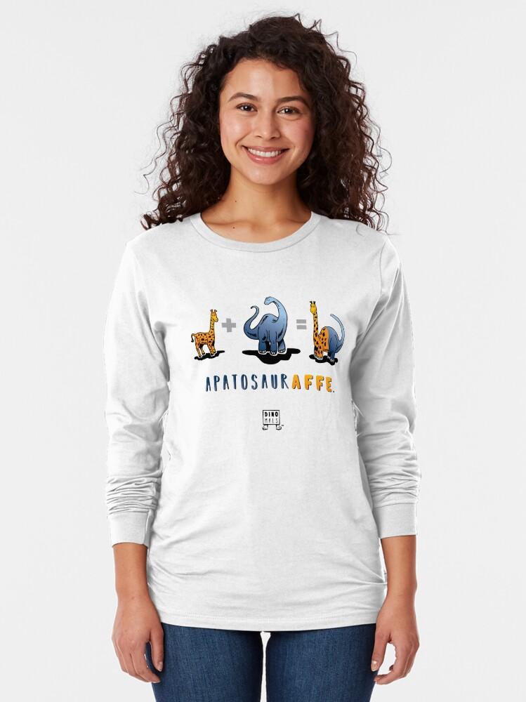 Alternate view of APATOSAURAFFE™: MATH Long Sleeve T-Shirt