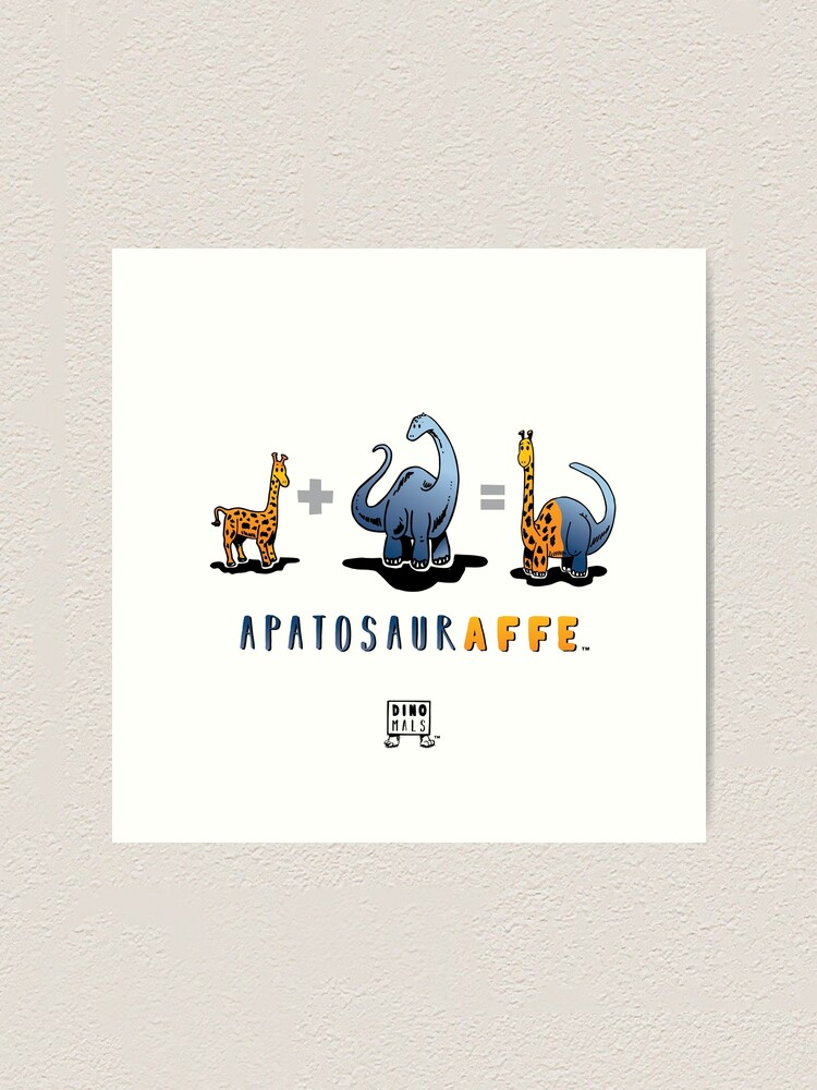 Alternate view of APATOSAURAFFE™: MATH Art Print