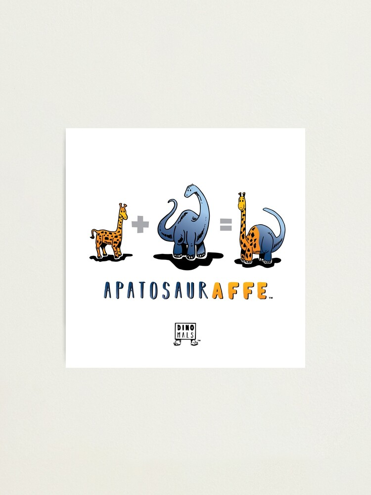 Alternate view of APATOSAURAFFE™: MATH Photographic Print