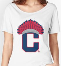 Cleveland Indians Chief Women's Relaxed Fit T-Shirt