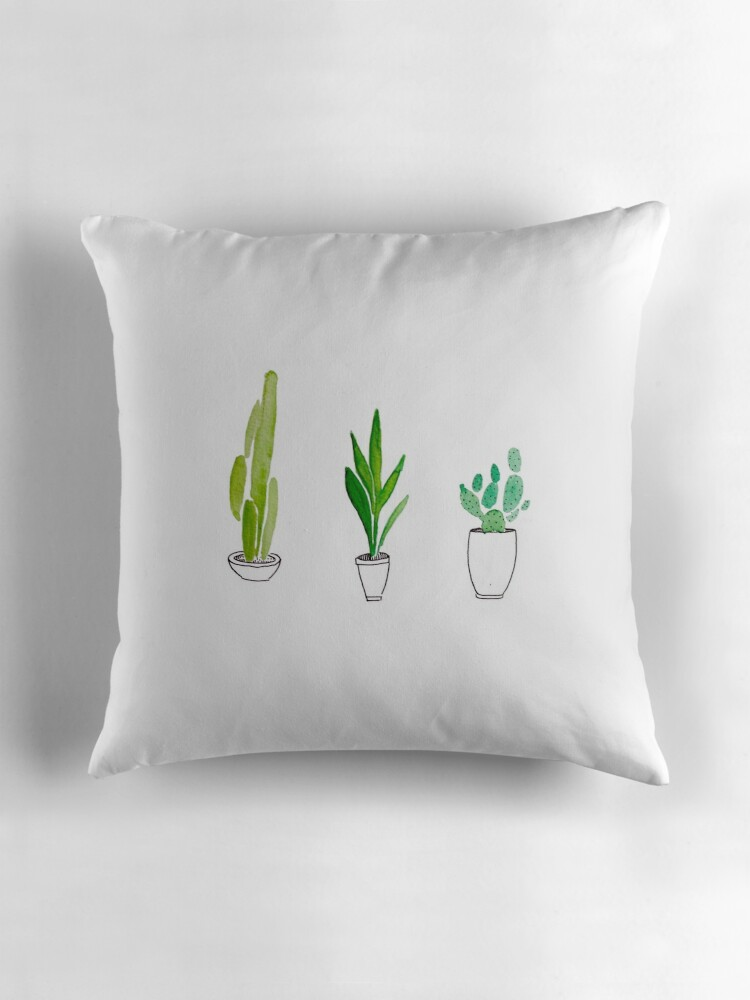 """cute tumblr cactus plant design "" Throw Pillows by ..."