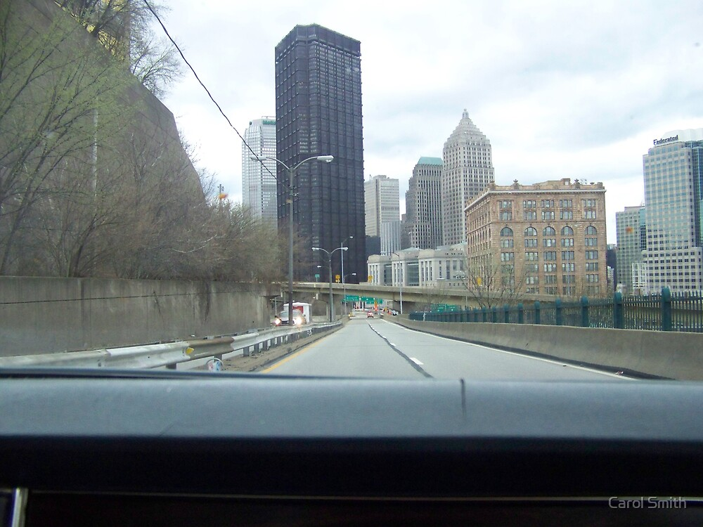 Bigelow Blvd. into downtown Pittsburgh by Carol Smith