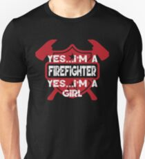 I'M JUST A GIRL WHO FELL IN LOVE WITH A MASK COVERED COOL MIND FIREFIGHTER T-Shirt