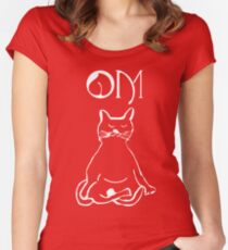 YOGA CAT Women's Fitted Scoop T-Shirt