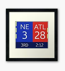 The Falcons 28-3 Lead Framed Print