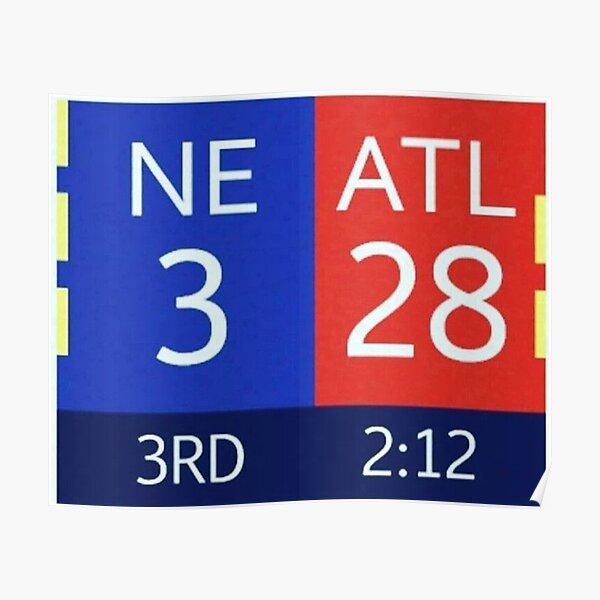los Falcons tenían una ventaja de 28-3 en el Super Bowl LI con 2:12 restantes en el tercer cuarto, pero no pudieron cerrar el trato. Este fue el regreso más increíble de la historia. Póster