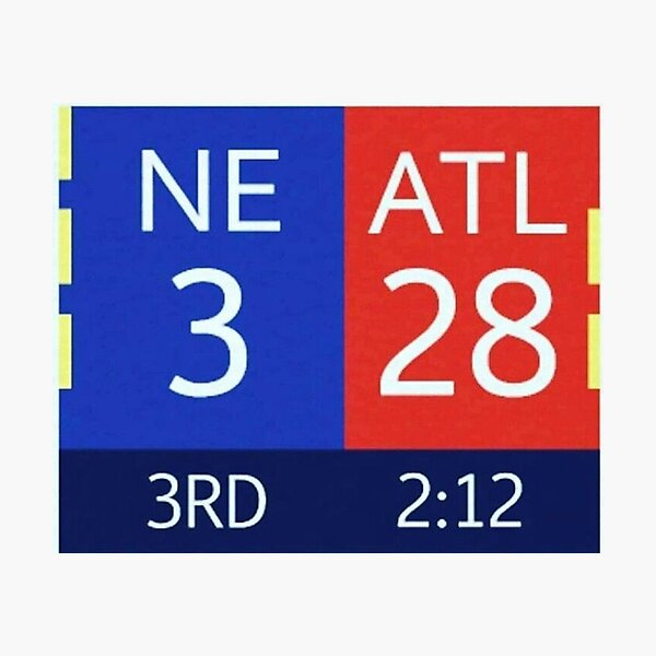 The Falcons 28-3 Lead Photographic Print