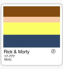 Colour Swatch: Morty Smith Sticker