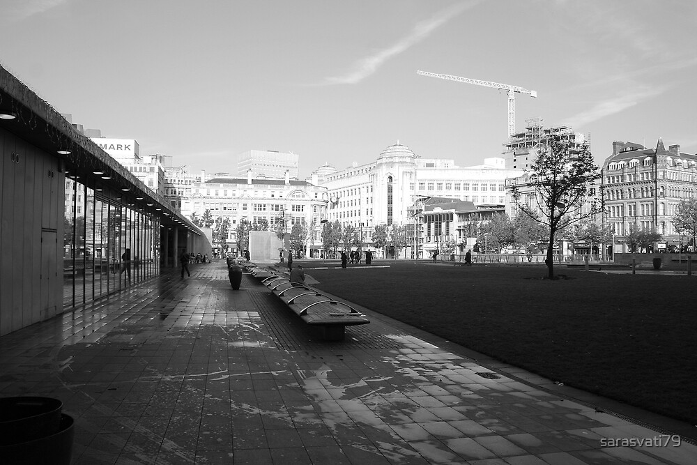 Piccadilly Gardens Stretching Out by sarasvati79