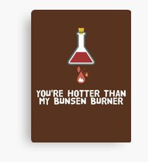 YOU'RE HOTTER THAN MY BUNSEN BURNER Canvas Print