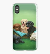 Picnic with Puppies iPhone Case/Skin