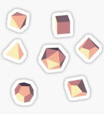 Sunrise - Polyhedral Dice Set Sticker