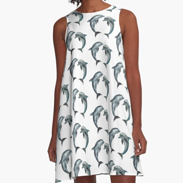 Dancing Dolphins A-Line Dress