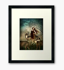 Running with the wolfs Framed Print