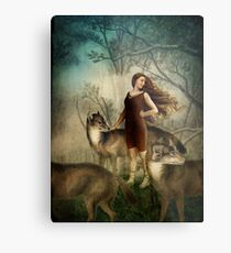 Running with the wolfs Metal Print