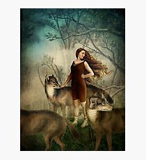 Running with the wolfs Photographic Print