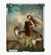 Running with the wolfs iPad Case/Skin