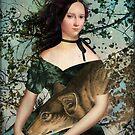 Portrait with a wolf by Catrin Welz-Stein