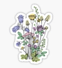 Wildflower sketch sticker Sticker
