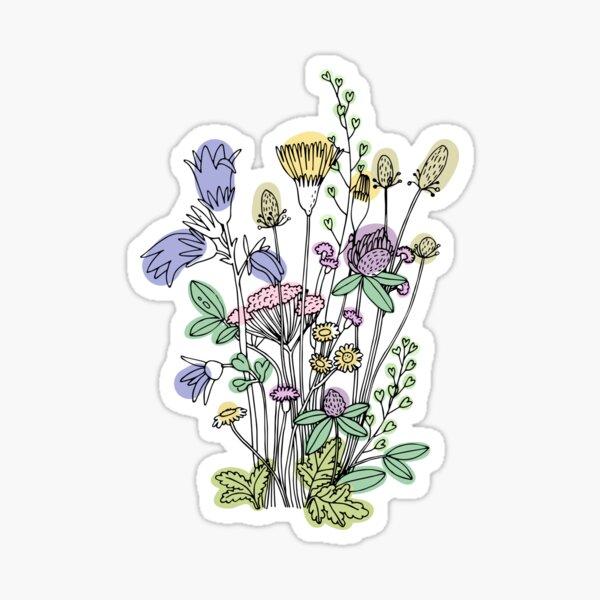 Wildflower floral sticker decal Sticker