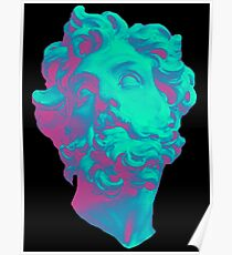 Aesthetic Statue Head Poster
