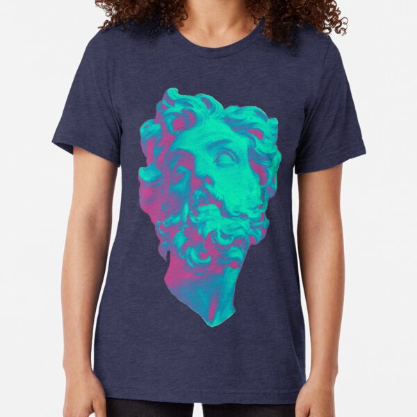 Aesthetic Statue Head Tri-blend T-Shirt