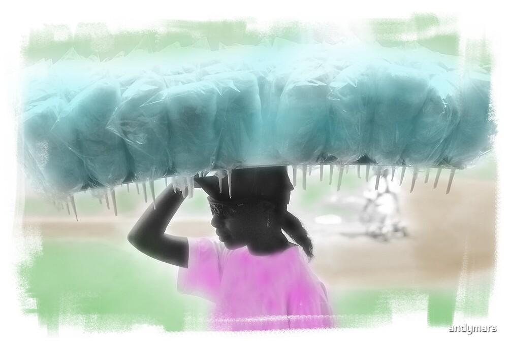 woman selling cotton candy by andymars