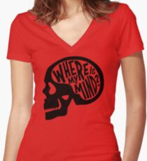 Where is my Mind - Fight Club  Women's Fitted V-Neck T-Shirt