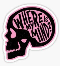 Where is my Mind - Fight Club  Sticker