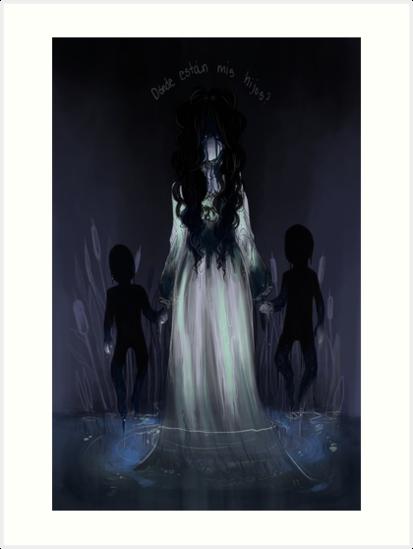 \u0027La Llorona\u0027 Art Print by ERReveles