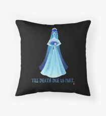 Haunted Bride Throw Pillow