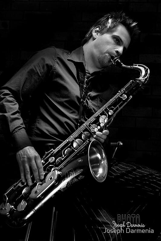 Pete and his sax by Joseph Darmenia