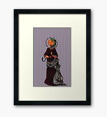 Pumpkin Girl Framed Print