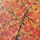 FALL TREES TRIPTYCH (LEFT PANEL) by Tammera