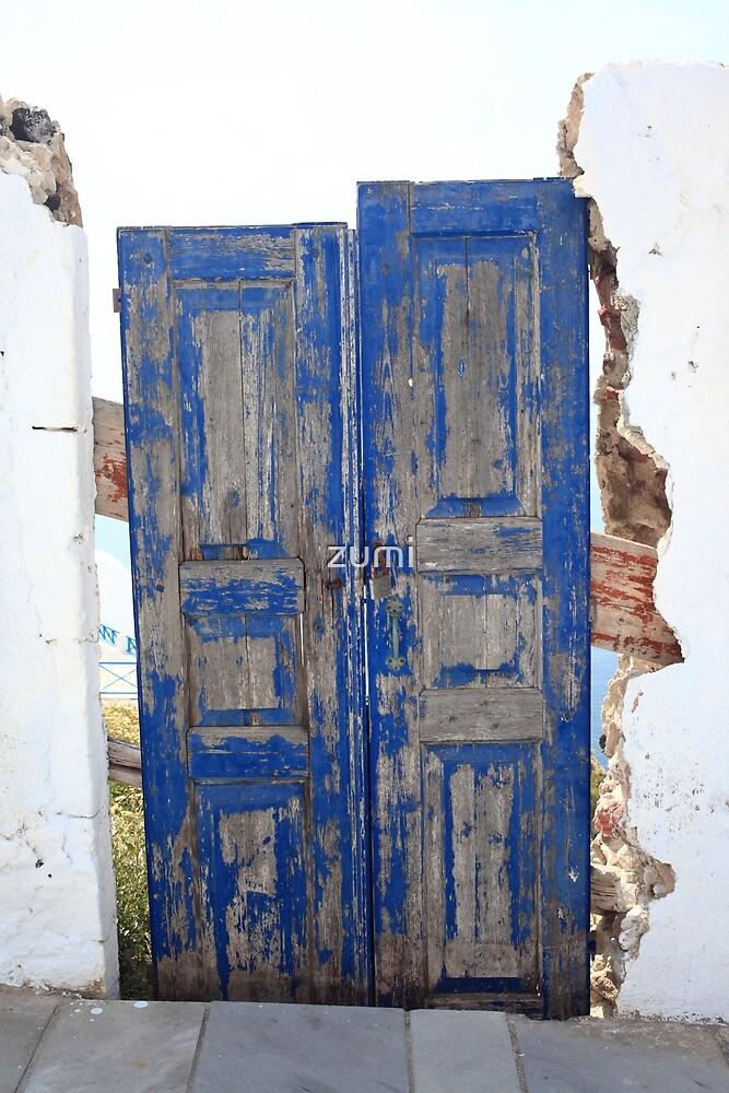 Blue door by zumi