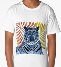 Big Blue Cat Long T-Shirt
