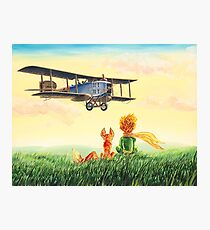 Little Prince, the Fox and the Pilot Photographic Print