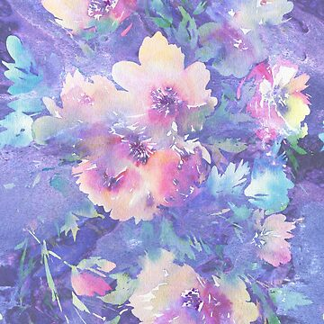 Colorful Watercolors Flowers Illustration  by artonwear
