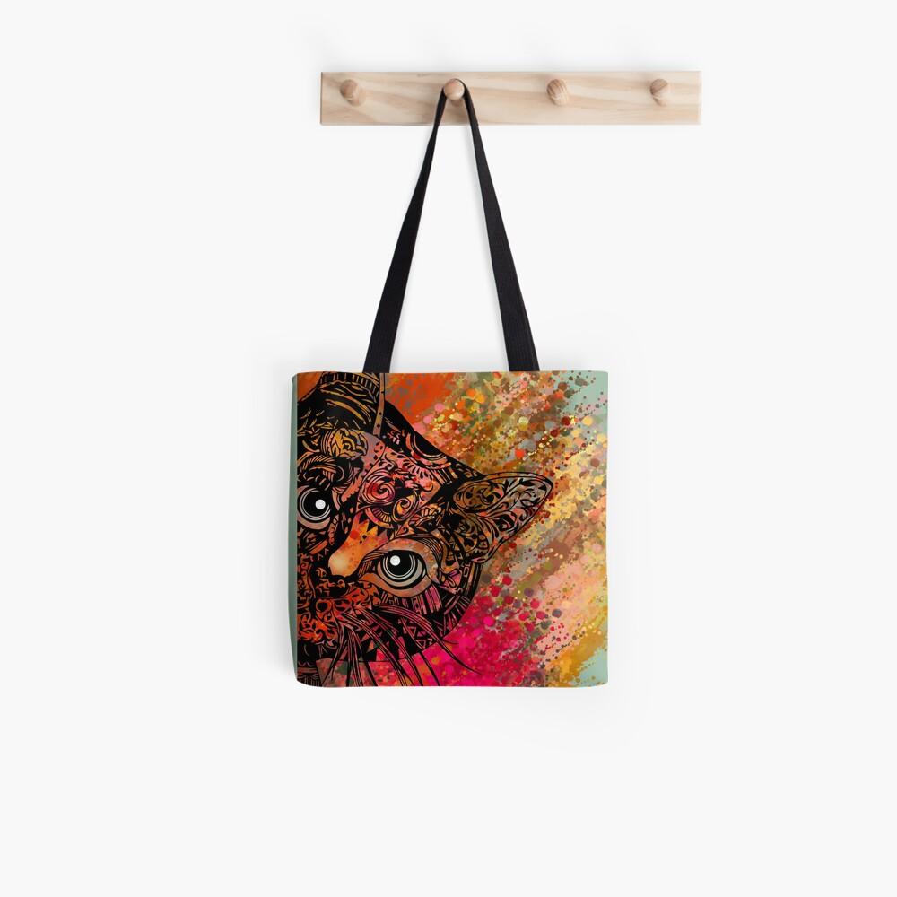 Cat Mandala Bolsa de tela