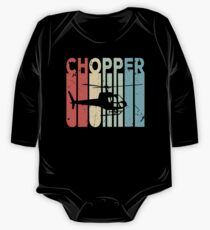 Chopper Helicopter Vintage Retro One Piece - Long Sleeve