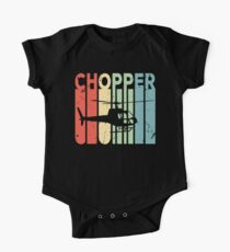 Chopper Helicopter Vintage Retro One Piece - Short Sleeve