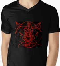 Black and Red Elephant Dragon Escaping into Reality take 2 V-Neck T-Shirt