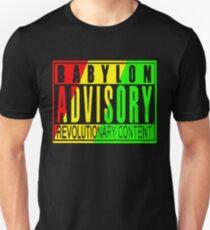 Babylon Advisory (on black) T-Shirt