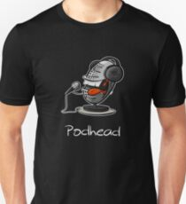 Funny Podcast Design Podhead for real Audio Junkies  T-Shirt