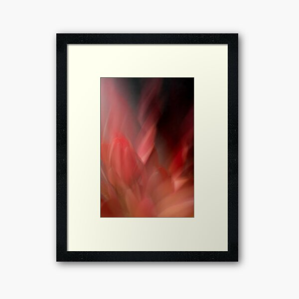 Fleur Blur-Abstract Red Leaves Photo Framed Art Print