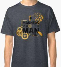 Camiseta clásica Manners Maketh Man Minimalist