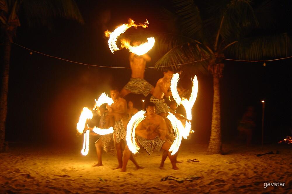 Fijian Fire Dancers by gavstar