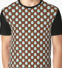 Isometric cappuccino cups pattern. Graphic T-Shirt